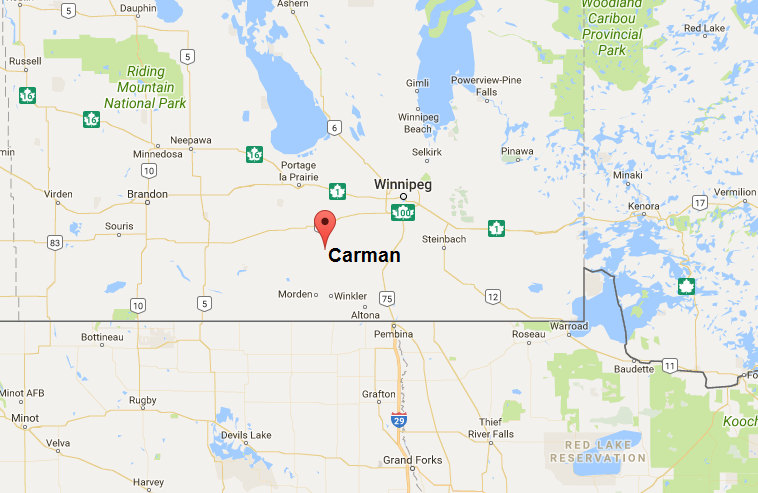 Carman MB map