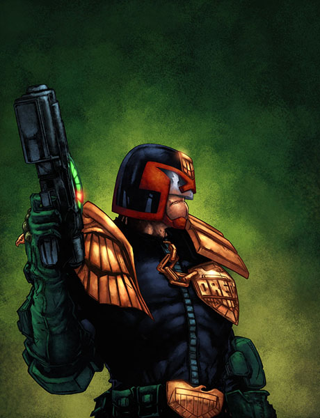 Judge Dredd with Law Giver